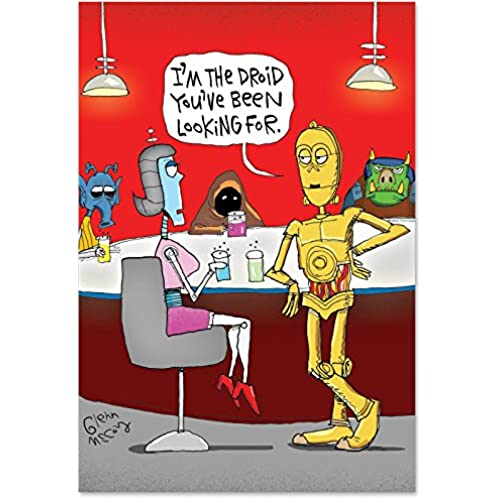 NobleWorks 2213 The Droid Funny Valentine's Day Unique Greeting Card, 5 x 7 Sales