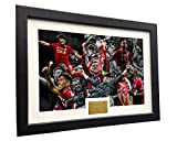 Kitbags & Lockers 2019 Champions League Celebration 12x8 A4 Signed Liverpool Henderson-Klopp-Salah-Mane-Firmino-Origi Autographed Photo Photograph Picture Frame Soccer Gift