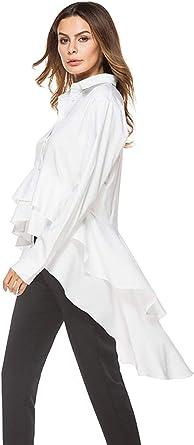 Mujer Camisa Primavera Otoño Tops Informales Hipster Hipster ...