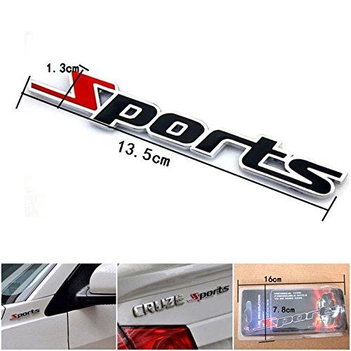 High Quality 1 Pc Impassioned Unique 3D Sports Car Sticker Chrome Metal Word Letter  Emblem Badge Automotive Racing