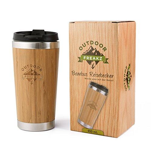 OUTDOOR FREAKZ Thermobecher aus Bambus und Edelstahl, ein Naturprodukt!