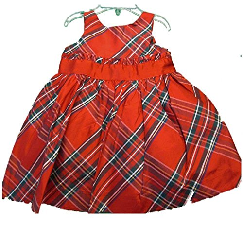 deb101803f84 Janie and Jack Red Multicolor Sleeveless Plaid Holiday Christmas Dress  12-18 Months
