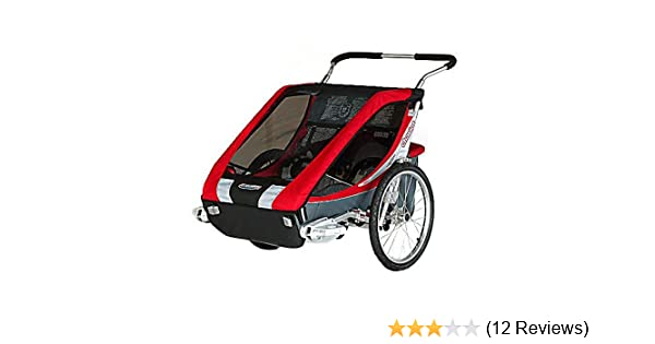06153687d24 Amazon.com : Chariot Deluxe Cougar 2 CTS Adventure Carrier (Chassis Only) -  Red/Silver/Grey : Child Carrier Bike Trailers : Sports & Outdoors