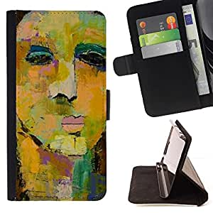 Momo Phone Case / Flip Funda de Cuero Case Cover - Face Painting Art Watercolor - Sony Xperia Z1 Compact D5503