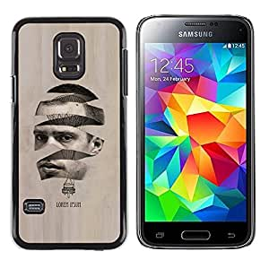 Paccase / SLIM PC / Aliminium Casa Carcasa Funda Case Cover - Art Man Hot Air Balloon - Samsung Galaxy S5 Mini, SM-G800, NOT S5 REGULAR!