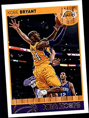 f7d56eceacd 2013-14 NBA Hoops  9 Kobe Bryant Los Angeles Lakers Official Basketball  Card made by Panini