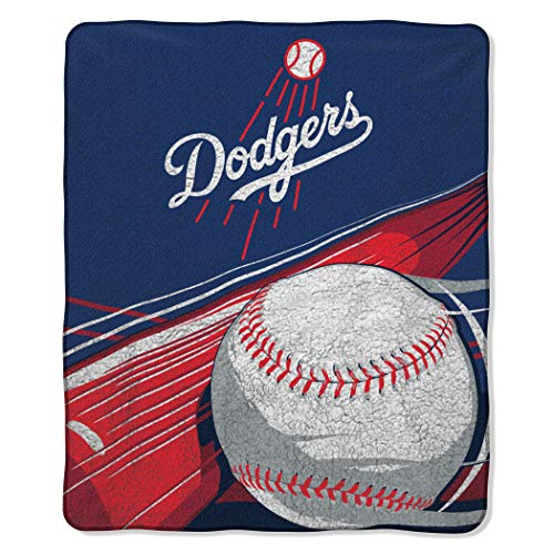 MLB Los Angeles Dodgers Big Stick Sherpa Throw Blanket, 50