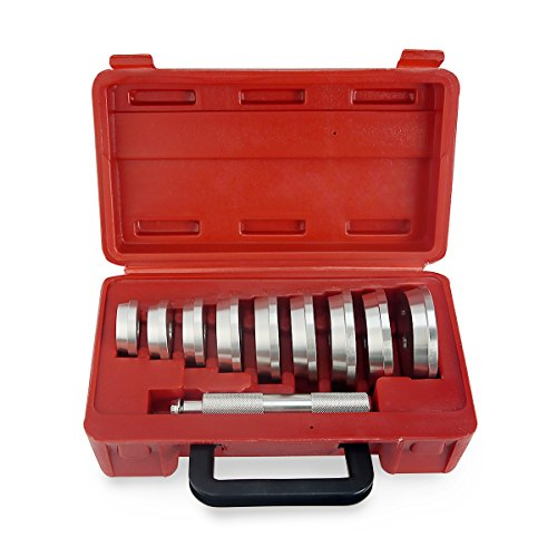 XtremepowerUS Bearing Race and Seal Driver Master Set - 10 Piece 10 Piece Seal Set