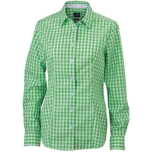 Larga Camisas James amp; Verde Mujer Manga Para Nicholson EIqT4qwf
