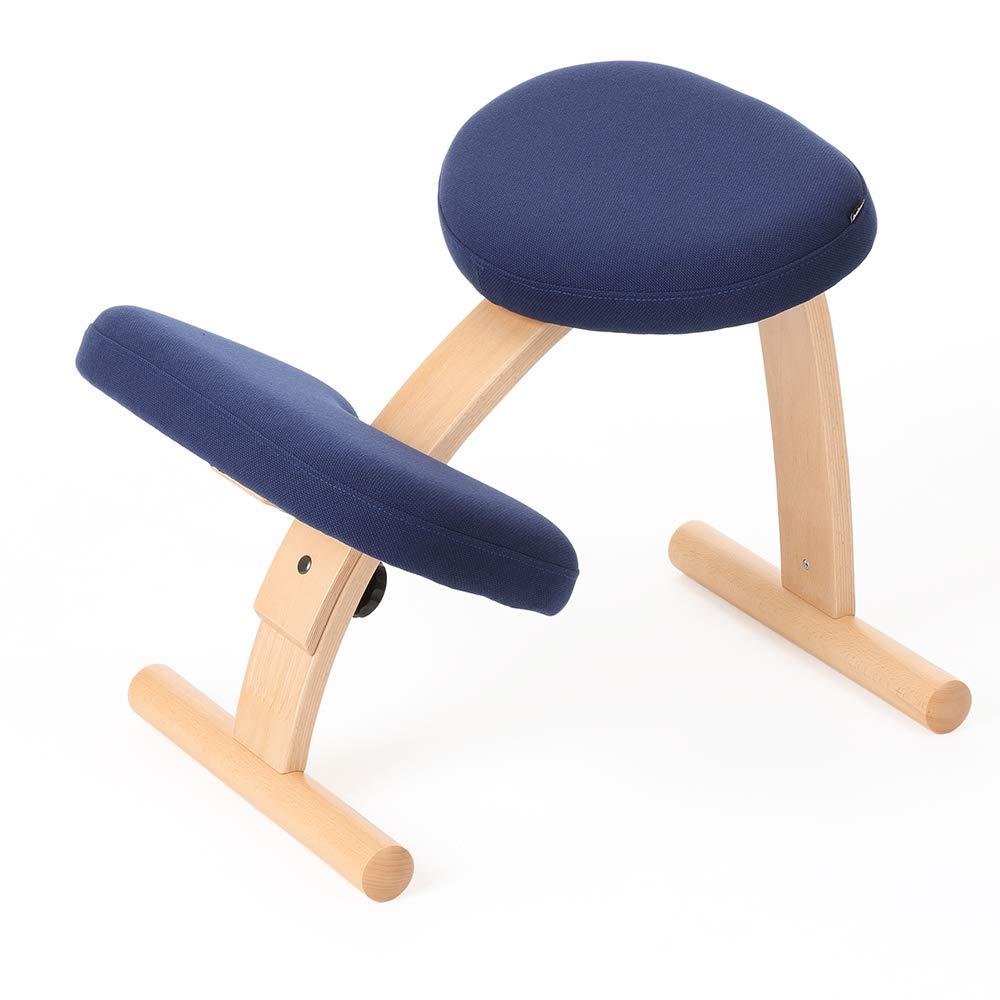 バランスチェア イージー ネイビー 姿勢が良くなる椅子 学習椅子 姿勢 矯正 椅子 猫背 子供用