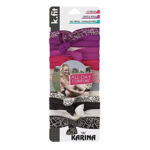 Karina K.Fit Rosette Soft Hair Ties