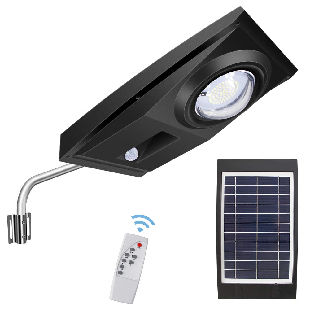 Solar Street Lights Outdoor, Remote Control Street and Area Lighting Outdoor Parking Stadium Lighting LED Lights Human Body Induction from Dusk to Dawn Automatically On/Off