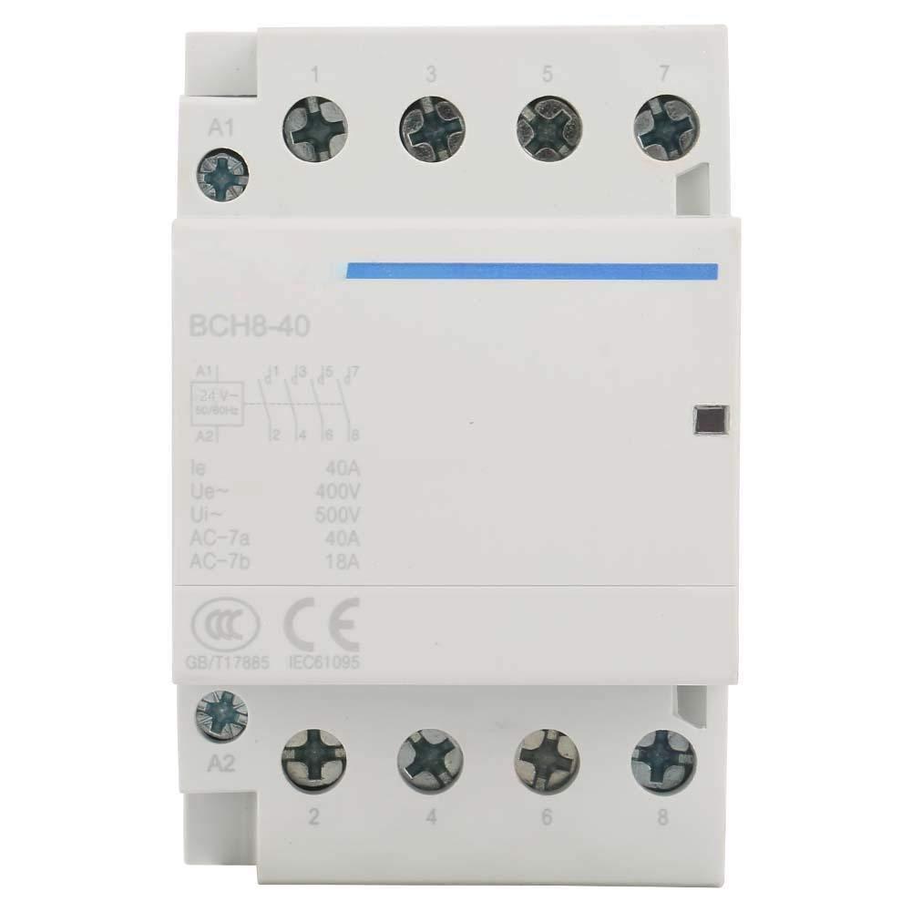 60Hz 100 000 fois la vie /électrique 230V 50 Contacteur AC 4P 2NO 2NC 40A 24V AC230V
