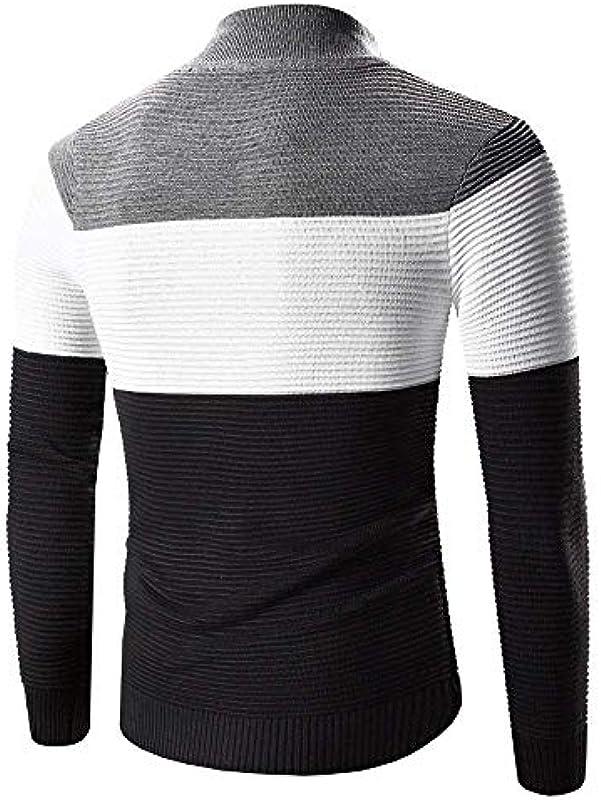 Męska kurtka z długim rękawem sweter Zip Jumper ciepłe ubranie bluza Cardigan wiosna jesień długi rękaw płaszcz dziany kurtka: Odzież