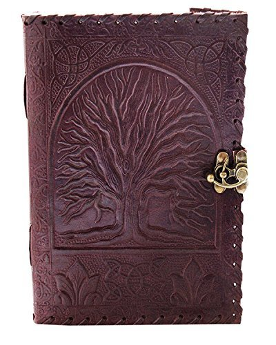 el cuero genuine Leather Journal large diary travel writing pad sketch book gift for kids school notebook fancy journal without lines with Clasp lock