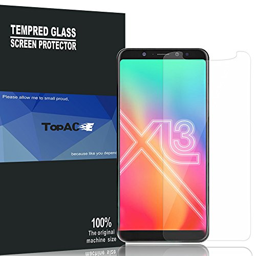 BLU Vivo XL3 Screen Protector, TopACE 9H Hardness [Case Friendly][Anti-Scratch][Bubble Free] Tempered Glass for BLU Vivo XL3 (2 Pack)