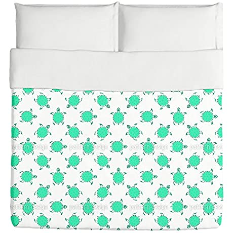 Tribal Turtles Duvet King Custom Printed
