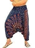 Product review for Sarjana Handicrafts Mens Womens Rayon Mandala Harem Pants Yoga Drop Crotch Trouser