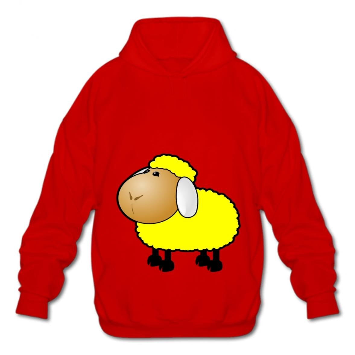 Gizhongqu Fashion Hoodies-03 Cartoon Sheep VPgk Men Cotton Pullover Hooded Sweatshirt Style