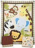 Baby : Bedtime Originals Jungle Buddies 3 Piece Crib Bedding Set, Brown/Yellow