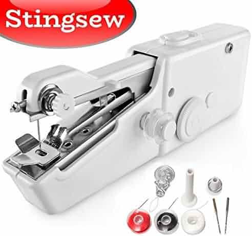 Portable Handheld Sewing Machine And Mini Hand Held Sew Machines Kit Adorable Miracle Sewing Machine