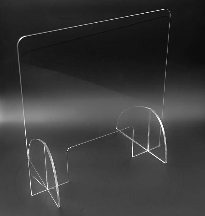 Mampara de protección en metacrilato transparente (60cm x 60cm ...