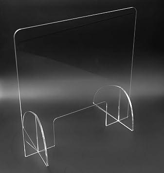 Mampara de protección en metacrilato transparente (60cm x 60cm). Sistema transparente, ligero y estable.: Amazon.es: Bricolaje y herramientas