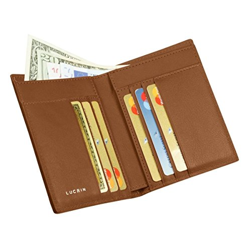 Natural Tan wallet Smooth Luxury Leather Luxury Lucrin Lucrin q6TnI