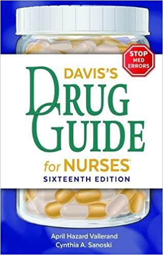 Daviss Drug Guide For Nurses 13th Edition Pdf