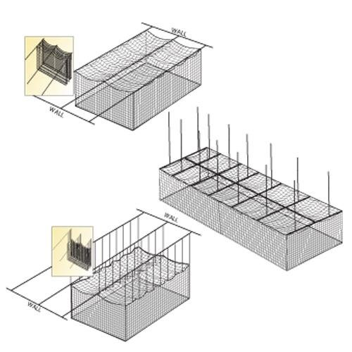 Image of Batting Cages Fehr Brothers BSN Ceiling Cage Net Suspension Kit
