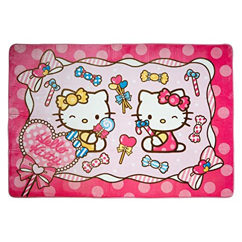 HOLY HOME Girl Kids Carpet Play-mat Rug Butterfly, Candy Hello Kitty Cat Miss -Favorite Gifts for Children Baby Bedroom Playroom Game Playing Mat Pink Rug 72