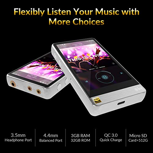 HiBy R6 Pro Hi-Res Audio Player, High Resolution Music Player with  aptX/atpX HD/LDAC/Bluetooth/DSD/Tidal/Spotify/Android 8 1/5G WiFi/4 4  Balance