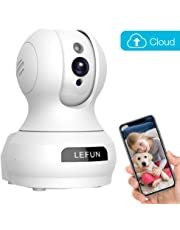 Baby Monitor, LeFun Pet Camera Wireless IP Security WiFi Surveillance Camera with Cloud Storage Two Way Audio Pan/Tilt/Zoom Night Vision Motion Detect Remote Control for Home/Shop/Office
