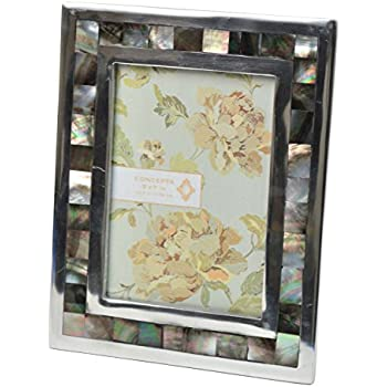 this item concepts black mother of pearl picture frame 5x7