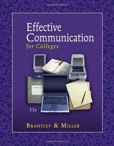 Effective Communication for Colleges by Brand: Cengage Learning