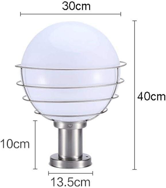 Bloomry E27 globo esterno colonna luce lanterna antipioggia spazzolato acciaio inossidabile acrilico esterno impermeabile pilastro lampioni palla villa cortile patio portico cancello apparecchio di il
