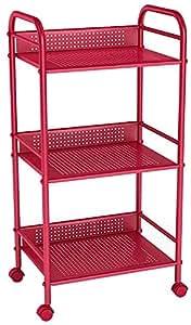 dar Living 3-Tier Cart, Red
