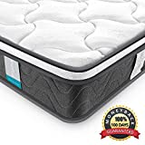 Queen Mattress, Inofia 8 Inch Super Comfort Innerspring Hybrid Mattress-Individually Encased Coils- Dual Layered Knitted Fabric Cool Cover-Queen