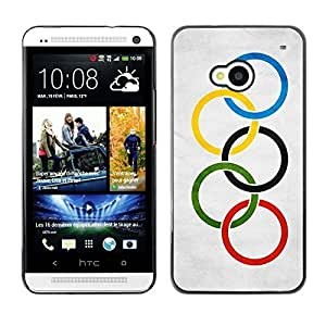 Shell-Star ( National Flag Series-Olympic Flag ) Snap On Hard Protective Case For HTC One (M7)
