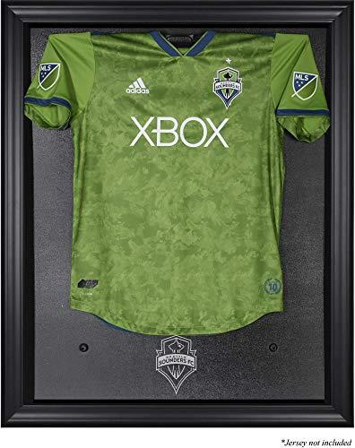 Sports Memorabilia Seattle Sounders Black Framed Team Logo Jersey Display Case - Soccer Jersey Logo Display Cases
