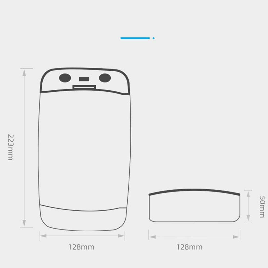 DRAKE18 Smartphone UV Sterilizer Mobile Phone Disinfection Box With USB Charger Portable Smart Voice Multi-Function For Phones Glasses Jewelry Key,White