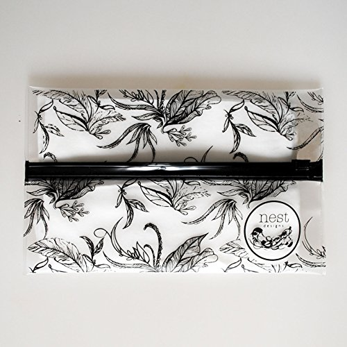 Wet Pouch: Wet Wipe Travel Case w/ Improved Zip (Leaves)