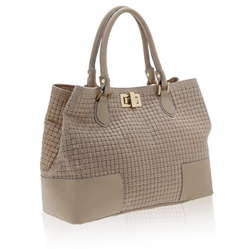 Véritable Chicca Cuir 27 Cm Italy 37 X Sac Made Main En Boue Femme In À Borse 14 OUSO0