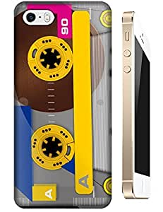 Tape Music Retro Hard Plastic Snap On Cell Cases iPhone 5/5S Color Deep Yellow