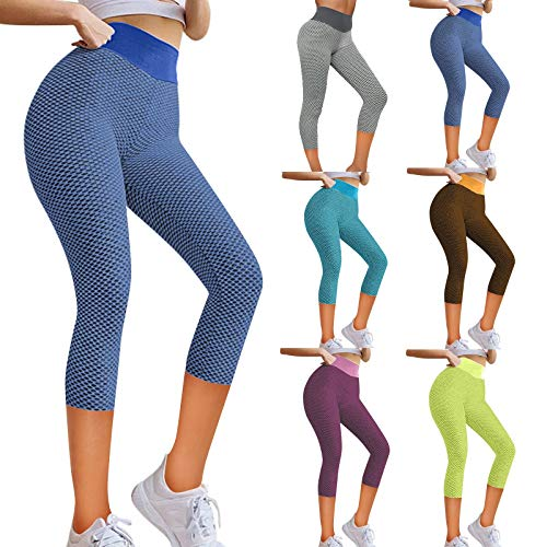 Nikiza Women High Waist Butt Lifting Yoga Pants Anti Cellulite Workout Leggings Tummy Control Leggings Tight Booty Tights