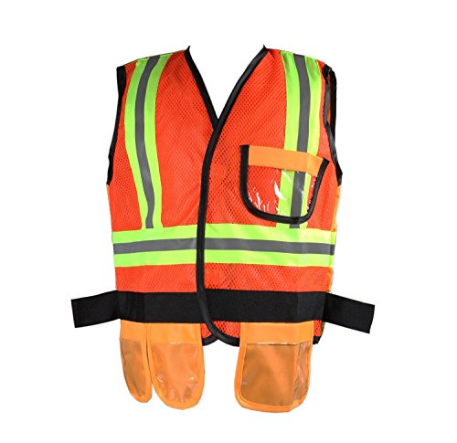 GradPlaza Children High Visibility Construction Worker Costume Safety Vest Only -