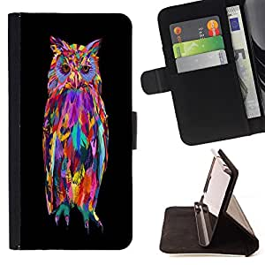 - Owls Owl Cartoon - - Style PU Leather Case Wallet Flip Stand Flap Closure Cover FOR HTC Desire 820 - Devil Case -