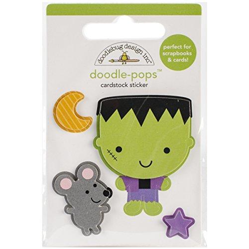 Doodlebug Designs Halloween Franky Doodlepops Dimensional Scrapbook Stickers