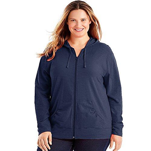 Full Zip Jersey Hoodie, Navy, 2X ()