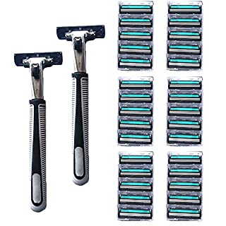 Razors for Men - Razor Stand + 30 Razor Blades